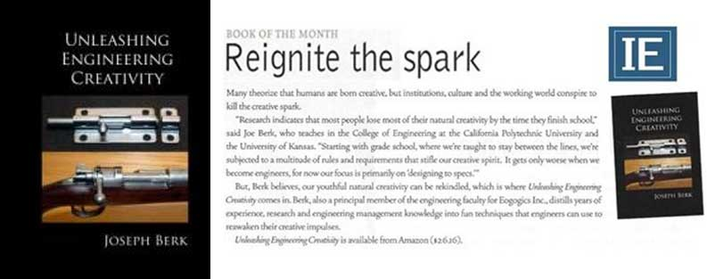 Industrial Engineer Mag. Unleashing Engineering Creativity, an Eogogics Pub., Is Book of the Month